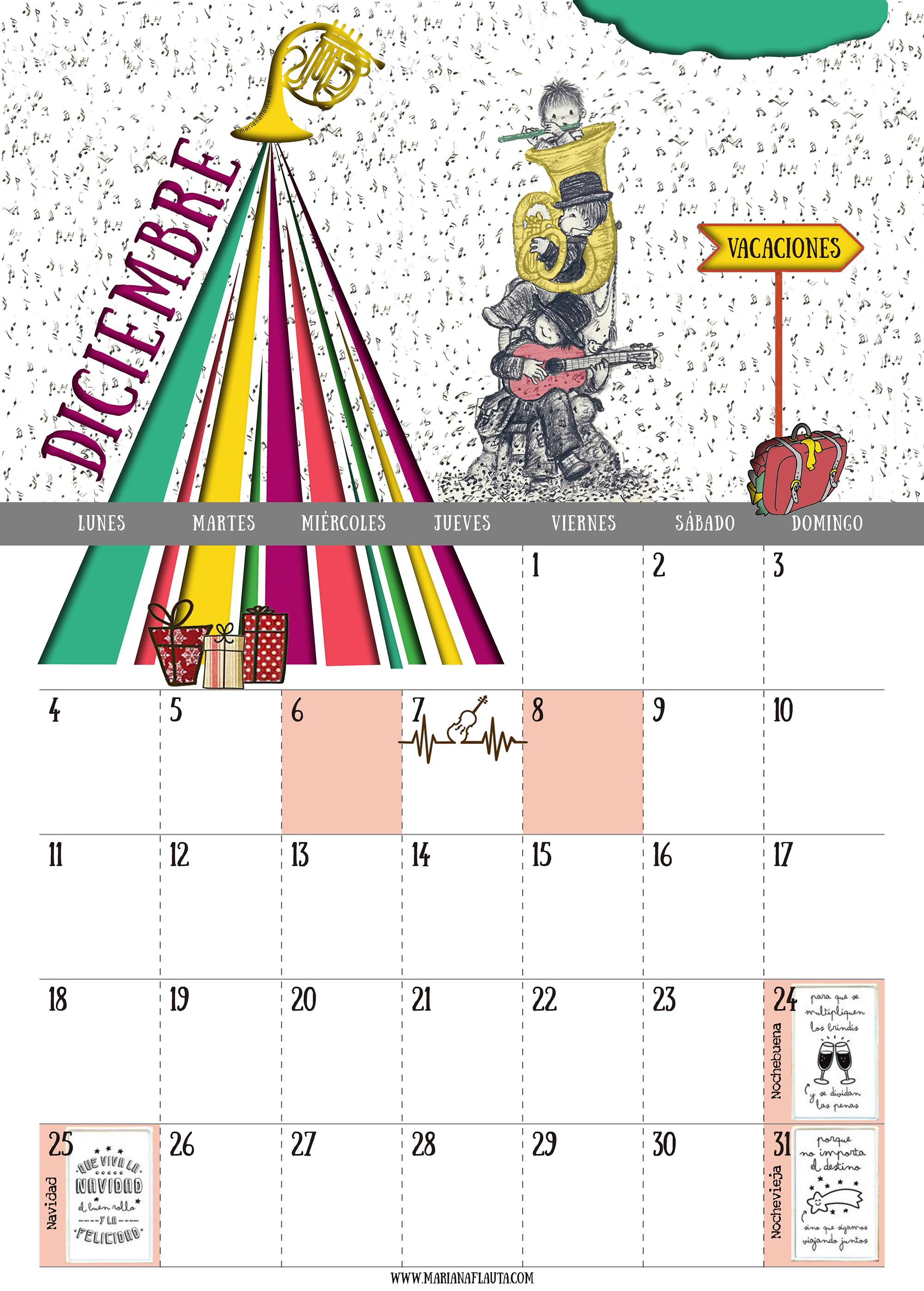 Calendario 2017 - Diciembre