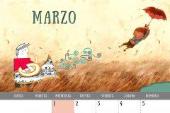 Calendario 2017 - Marzo