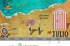 Calendario 2017 - Julio