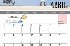Calendario 2018 - Abril